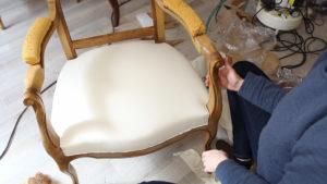 Garniture traditionnelle en blanc Fauteuil Voltaire